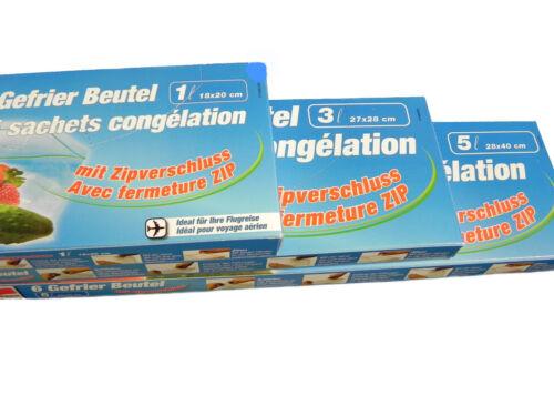 Gefrierbeutel 1-5L Zip-Druckverschluss Tiefkühlbeutel Gefriertüten kein Vakkum