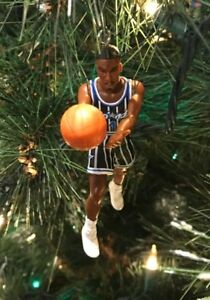 brand new 3e49e 16a90 Details about ORLANDO MAGIC Christmas tree ornament ANFERNEE HARDAWAY black  jersey NBA PENNY