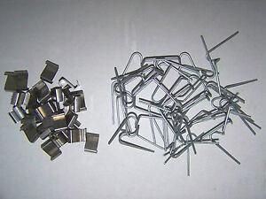 25 Gewachshaus Klammern 20 Glashalter Schindelverglasung Rep Set