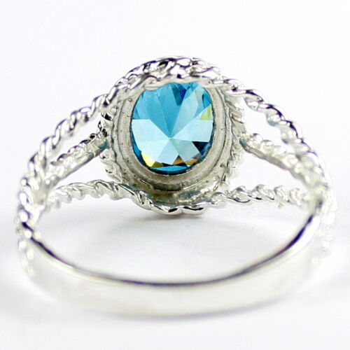 SR070 Aquamarine 925 Sterling Silver Ring