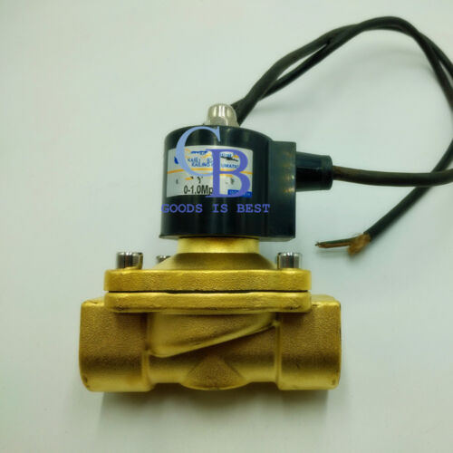 """DC12V G3//4/"""" Brass Electric Solenoid Valve NC for Water Oil Waterproof IP67"""