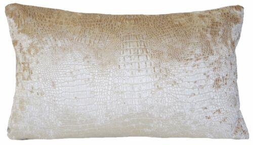 Alligator Peau Housse de Coussin Osborne /& Little Chenille Tissu Limpopo Rectangle