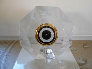 Superbe-Horloge-en-Cristal-de-Bureau-de-Table-Villeroy-et-Boch