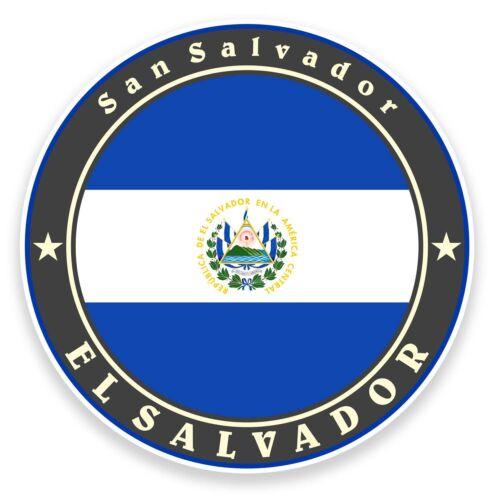 2 x 10cm El Salvador Flag Vinyl Sticker Decal Car Bike Laptop Luggage Gift #9235
