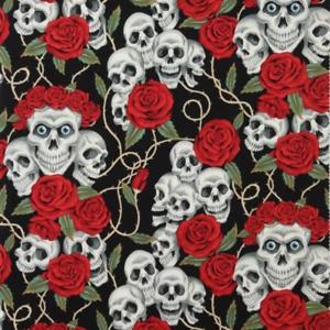 Alexander Henry Tela La Rosa Tatuaje Negro Brite medio metro de Tatuaje Halloween R