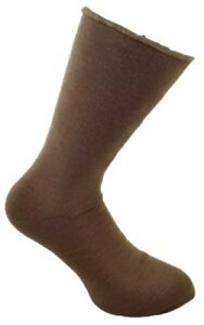 1 Pair Mens Brown Comfort Insulated Acrylic Thermal Bed Socks, UK Size 6-11