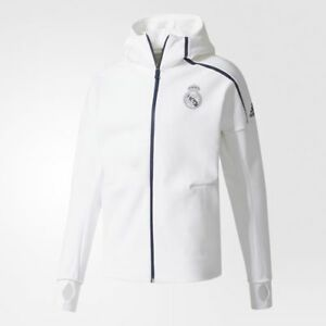 ADIDAS REAL MADRID UEFA CHAMPIONS LEAGUE ANTHEM Z.N.E. HOODIE White ... cb6afd50c68d5