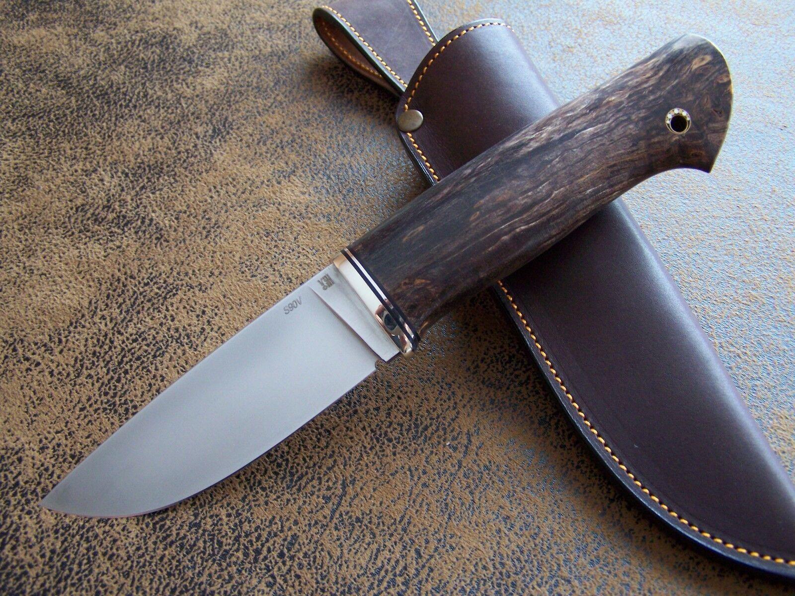 D. Uldanov Exklusives Custom Messer Outdoor / S90V Jagdmesser CPM S90V / Stahl 62-HRC c2f3a1