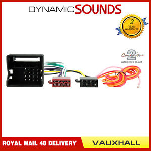 ct20vx01 car stereo radio wiring harness iso loom for vauxhall rh ebay co uk vauxhall meriva radio wiring diagram vauxhall vectra radio wiring diagram