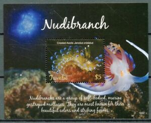 Tuvalu-2018-MNH-Nudibranch-Crested-Aeolis-1v-S-S-Molluscs-Marine-Animals-Stamps