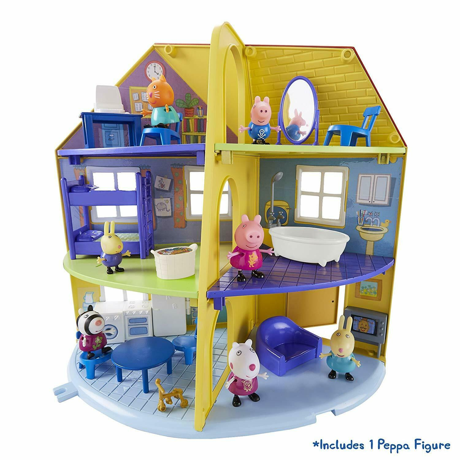 Peppa Pig Peppa's Family Home Playset Kids Fun Toy Figures Characters Furniture