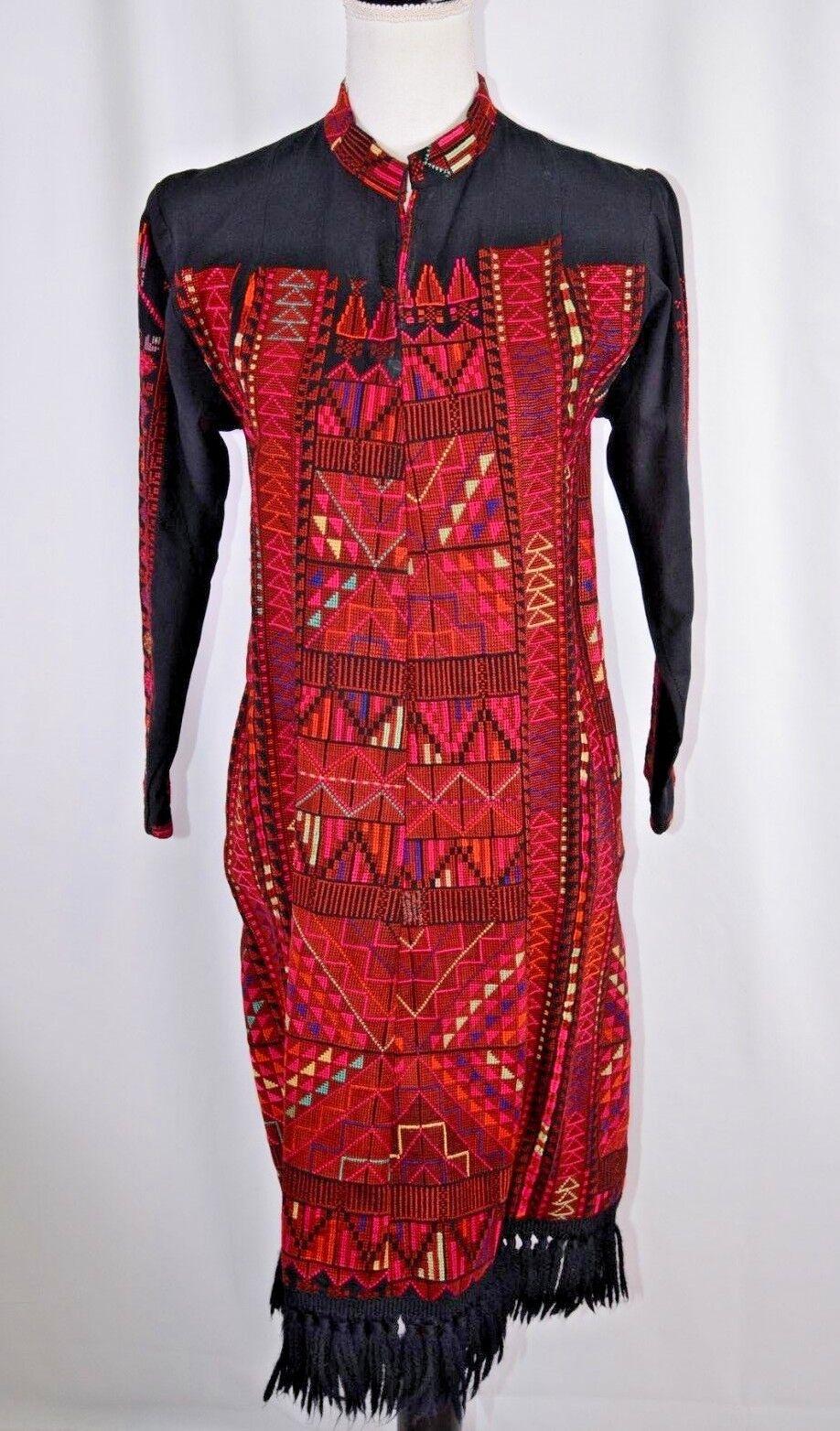 Unbranded Woherren Dashiki Dress Hand Made Größe Small Farbeful Embroiderot Boho