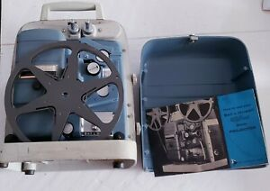 BELL-amp-HOWELL-363-BLUE-8MM-MOVIE-FILM-PROJECTOR-VARI-SPEED-AUTO-LOAD-VINTAGE