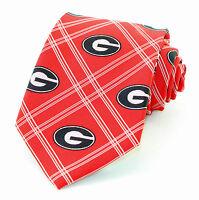 Georgia Bulldogs Mens Neck Tie College Red Neck Tie University Alumni Gift