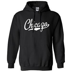 Chicago-Script-amp-Tail-HOODIE-Hooded-Sports-School-Team-Sweatshirt-All-Colors