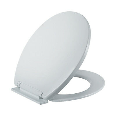 LUXURY TOILET SEAT WHITE EASY FIT STANDARD BATHROOM SOFT CLOSE ADJUSTABLE
