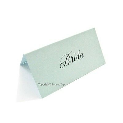 50 Tiffany Blue Blank Wedding Table Number Place Card Tent Style Scored 8x4cm