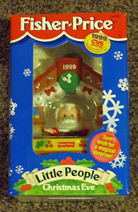 fisher price little people christmas eve 1999 ornament cvs