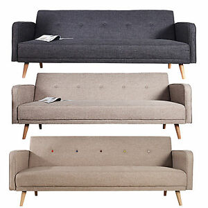 Schlafcouch design  Design Schlafsofa SCANDINAVIA Couch Sofa Schlafcouch FARBWAHL ...