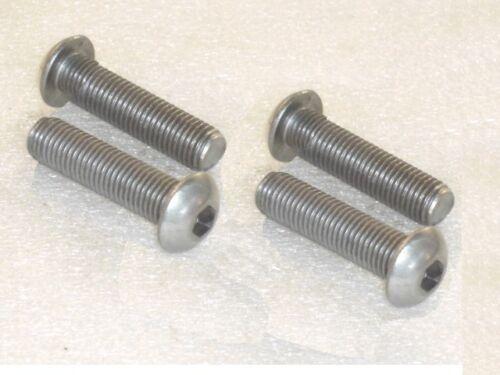 4x M10 x 30mm A2 Stainless Steel Socket Button Screws Metric FINE Thread 1.25mm