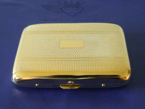 Zigarettenetui, 24 Karat vergoldet, Gold, Edel, Design, Zigarettenbox