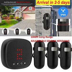 1byone-1000ft-Wireless-Driveway-Alert-Alarm-System-Motion-Sensor-Waterproof-2020