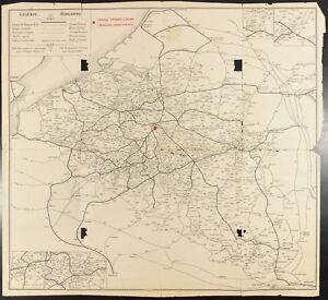 Belgique, Carte chemins de fer. Exposition universelle 1910 de Bruxelles.