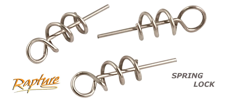 Molla per Esche Siliconiche RAPTURE Spring Lock Spinning Soft Bait Busta 5 Pezzi