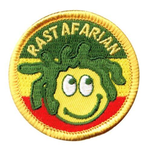 Jamaica Rastafarian Smiley Face Patch Iron on Rasta Dreads Reggae