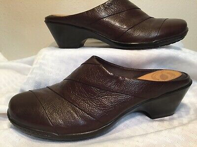 Clothing, Shoes & Accessories Nurture Brown Leather Upper/lining Clogs Mules Us Size 6 Medium Comfort Insole