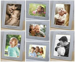 Image Is Loading PERSONALISED Silver DADDY PHOTO FRAMES Gift Ideas For