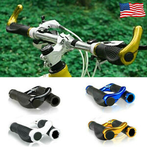 2-Pcs-Mountain-Bike-Handle-Bar-Grips-Double-Lock-On-Bicycle-Cycling-Handlebar-US