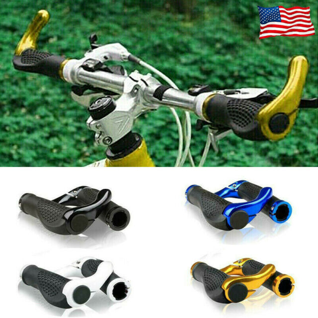 New Mountain MTB Cycling Bike Bicycle Lock-On Handlebar Grips With Bar Ends US