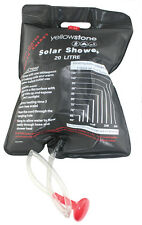 DOCCIA solare da 20 LITRI 41 x 58cm Nero con Soffione Della Doccia & cavo di appendere -