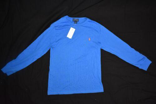 NWT Polo Ralph Lauren Long Sleeve Shirt Top Medium Large 10 12 14 16 Blue
