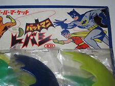 Batman & Robin plastic Batarang vintage japanese toys on original shop card