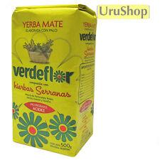 Y230 YERBA MATE VERDEFLOR 500G HIERBAS SERRANAS LOOSE LEAF FLAVOURED TEA