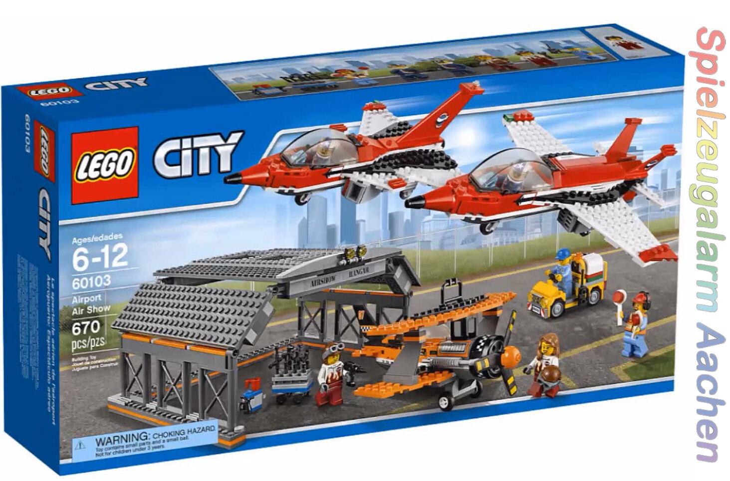 LEGO 60103 City grande volo guarda Airport Air Show le spectacle aérien BINSB n16/8