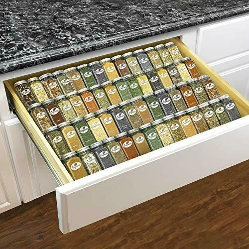 Professional Adjustable Expandable 4 Tier Steel Spice Rack Tray Drawer Organizer