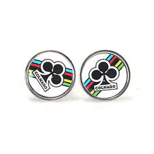 Vintage style Colnago clubs white handlebar end plugs - eroica bars