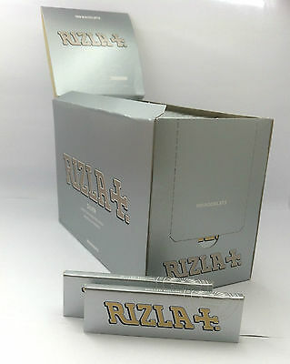Rizla Silver Standard Size Cigarette Rolling Paper 100 Booklets Box UK Seller