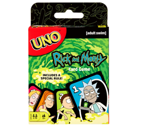 New Mattel Games Rick and Morty UNO Card Game 2-10 players