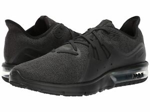 huge selection of 03e10 45f71 Image is loading Nike-Air-Max-Sequent-3-Black-Anthracite-921694010-
