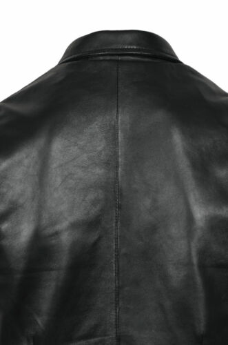 Men/'s Party Black Fashion Classic Real Lambskin Napa Premium Leather Waistcoat