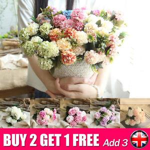 Bouquet de fleurs artificielles d'hortensia en soie artificielle Bouquet de  x