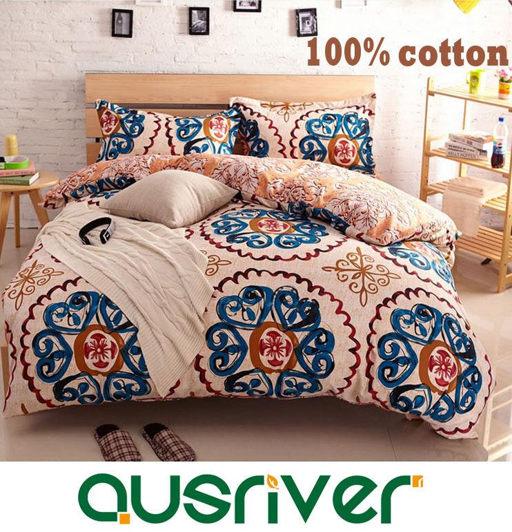 New Classic Fashion 4Pcs S King Größe Bed Quilt Duvet Doona Cover Set 100%Cotton