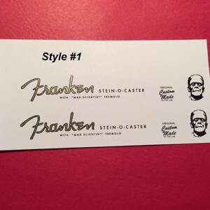 2 Franken Stein 0 Caster Waterslide Guitare Poupée Decals 3 Style Choix B3-afficher Le Titre D'origine Lissage De La Circulation Et Des Douleurs D'ArrêT