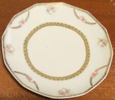 "7.5"" Antique Vintage Royal Innsbruck Vienna JHR Co Handpainted Pink Roses Plate"