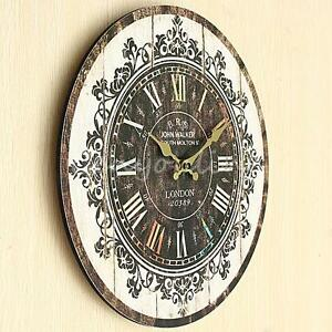Large Wall Clock Tracery Vintage Rustic Shabby Chic Home Office