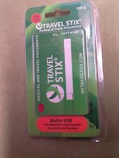 TRAVEL STIX Medical & Travel Documents 2 GB USB Pre-Embedded w/documents NEW